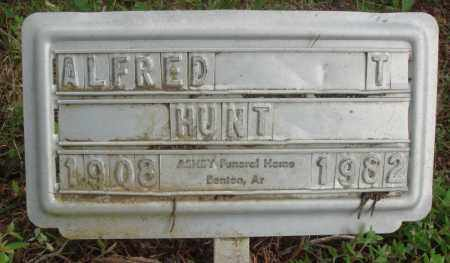 HUNT, ALFRED T - Perry County, Arkansas | ALFRED T HUNT - Arkansas Gravestone Photos