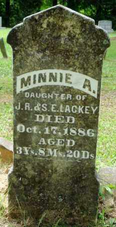 LACKEY, MINNIE A - Perry County, Arkansas   MINNIE A LACKEY - Arkansas Gravestone Photos