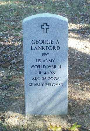 LANKFORD  (VETERAN WWII), GEORGE A. - Perry County, Arkansas | GEORGE A. LANKFORD  (VETERAN WWII) - Arkansas Gravestone Photos