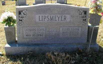 REMPE LIPSMEYER, CATHERINE - Perry County, Arkansas | CATHERINE REMPE LIPSMEYER - Arkansas Gravestone Photos