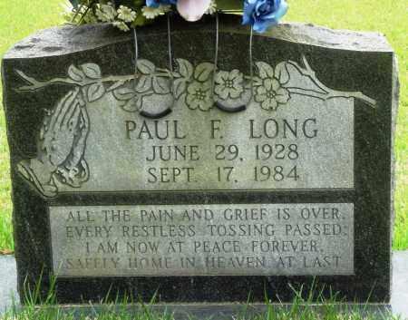 LONG, PAUL F - Perry County, Arkansas   PAUL F LONG - Arkansas Gravestone Photos