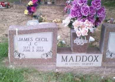 "MADDOX, JAMES CECIL ""J.C."" - Perry County, Arkansas | JAMES CECIL ""J.C."" MADDOX - Arkansas Gravestone Photos"