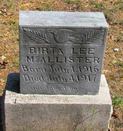 MCALLISTER, BIRTA LEE - Perry County, Arkansas | BIRTA LEE MCALLISTER - Arkansas Gravestone Photos