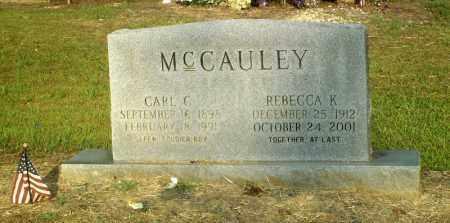 MCCAULEY, CARL C. - Perry County, Arkansas   CARL C. MCCAULEY - Arkansas Gravestone Photos