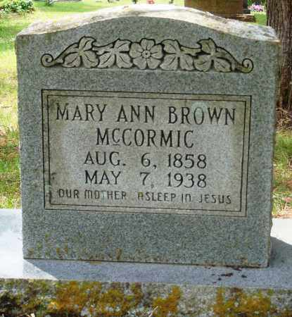 MCCORMIC, MARY ANN - Perry County, Arkansas | MARY ANN MCCORMIC - Arkansas Gravestone Photos