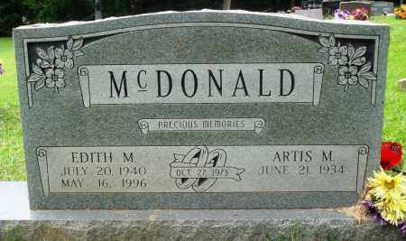MCDONALD, EDITH M - Perry County, Arkansas | EDITH M MCDONALD - Arkansas Gravestone Photos