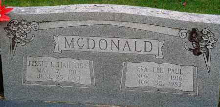 "MCDONALD, JESSIE ELIJAH ""LIGE"" - Perry County, Arkansas | JESSIE ELIJAH ""LIGE"" MCDONALD - Arkansas Gravestone Photos"
