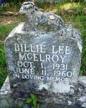 MCELROY, BILLIE LEE - Perry County, Arkansas | BILLIE LEE MCELROY - Arkansas Gravestone Photos