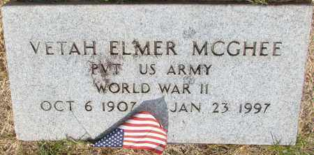 MCGHEE (VETERAN WWII), VETAH ELMER - Perry County, Arkansas | VETAH ELMER MCGHEE (VETERAN WWII) - Arkansas Gravestone Photos