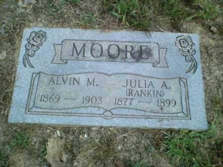 RANKIN MOORE, JULIA A. - Perry County, Arkansas | JULIA A. RANKIN MOORE - Arkansas Gravestone Photos