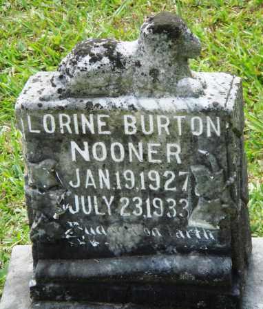 NOONER, LORINE BURTON - Perry County, Arkansas   LORINE BURTON NOONER - Arkansas Gravestone Photos