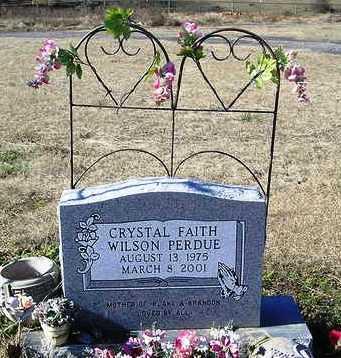 PERDUE, CRYSTAL FAITH - Perry County, Arkansas | CRYSTAL FAITH PERDUE - Arkansas Gravestone Photos