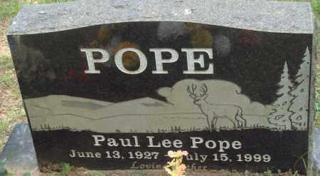 POPE, PAUL LEE - Perry County, Arkansas | PAUL LEE POPE - Arkansas Gravestone Photos