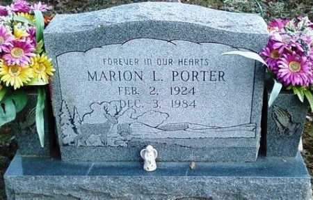 PORTER, MARION L. - Perry County, Arkansas | MARION L. PORTER - Arkansas Gravestone Photos