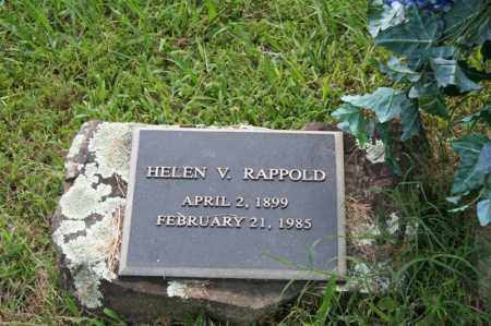 RAPPOLD, HELEN V. - Perry County, Arkansas   HELEN V. RAPPOLD - Arkansas Gravestone Photos