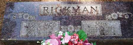 RICKMAN, JESSIE JACO - Perry County, Arkansas | JESSIE JACO RICKMAN - Arkansas Gravestone Photos