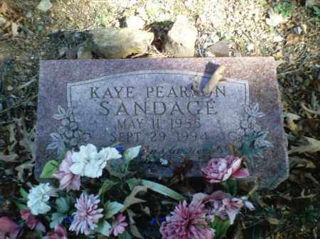 PEARSON SANDAGE, KAYE - Perry County, Arkansas   KAYE PEARSON SANDAGE - Arkansas Gravestone Photos