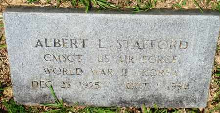 STAFFORD (VETERAN 2 WARS), ALBERT L - Perry County, Arkansas | ALBERT L STAFFORD (VETERAN 2 WARS) - Arkansas Gravestone Photos