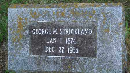 STRICKLAND, GEORGE M - Perry County, Arkansas | GEORGE M STRICKLAND - Arkansas Gravestone Photos