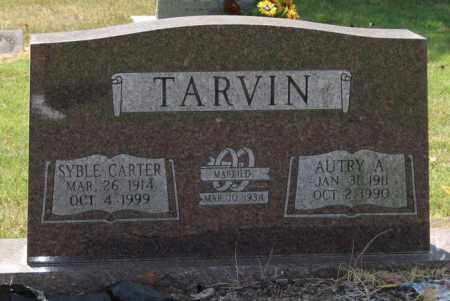 CARTER TARVIN, SYBLE - Perry County, Arkansas | SYBLE CARTER TARVIN - Arkansas Gravestone Photos