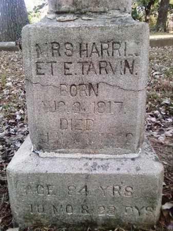HUFFMAN TARVIN, HARRIET ELIZABETH (CLOSE UP) - Perry County, Arkansas | HARRIET ELIZABETH (CLOSE UP) HUFFMAN TARVIN - Arkansas Gravestone Photos