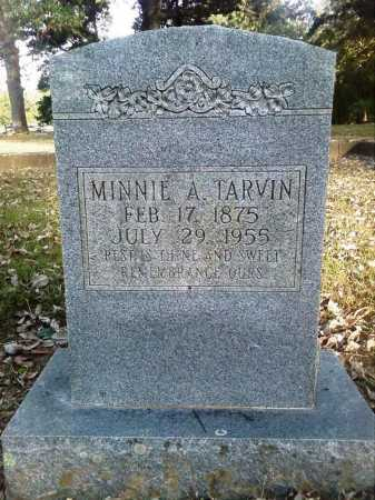 TARVIN, MINNIE A - Perry County, Arkansas | MINNIE A TARVIN - Arkansas Gravestone Photos