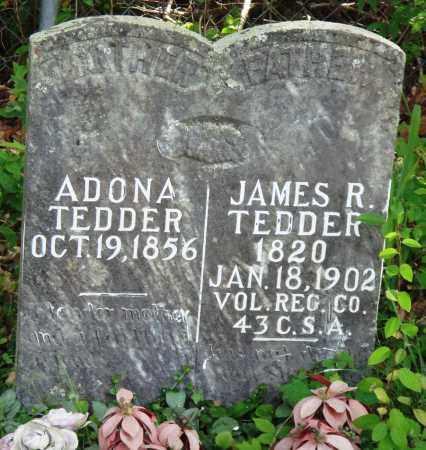 TEDDER (VETERAN CSA), JAMES R - Perry County, Arkansas | JAMES R TEDDER (VETERAN CSA) - Arkansas Gravestone Photos