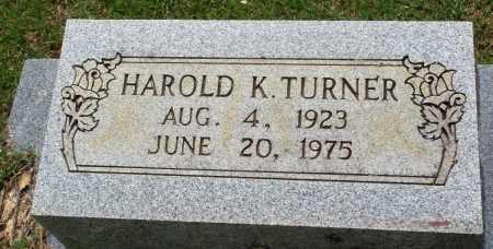 TURNER, HAROLD K - Perry County, Arkansas   HAROLD K TURNER - Arkansas Gravestone Photos