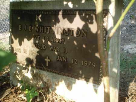 WHITTINGTON  (VETERAN WWII), B.  J.  B. - Perry County, Arkansas   B.  J.  B. WHITTINGTON  (VETERAN WWII) - Arkansas Gravestone Photos