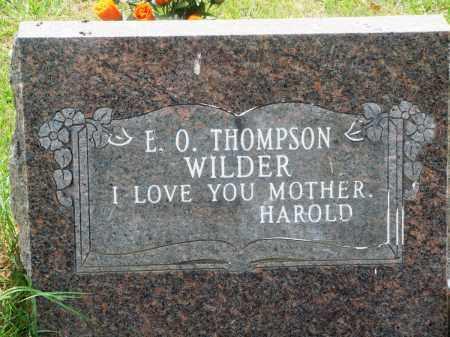 THOMPSON WILDER, E O - Perry County, Arkansas | E O THOMPSON WILDER - Arkansas Gravestone Photos
