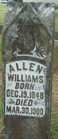 WILLIAMS, ALLEN - Perry County, Arkansas | ALLEN WILLIAMS - Arkansas Gravestone Photos