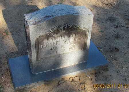 BENNETT WILLIAMS, MARTHA JANE - Perry County, Arkansas | MARTHA JANE BENNETT WILLIAMS - Arkansas Gravestone Photos