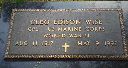 WISE (VETERAN WWII), CLEO EDISON - Perry County, Arkansas | CLEO EDISON WISE (VETERAN WWII) - Arkansas Gravestone Photos