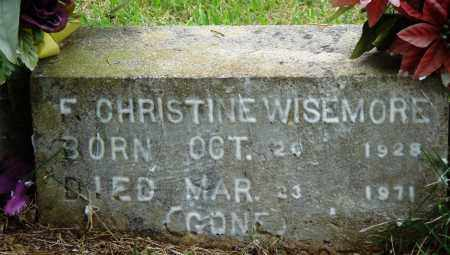 WISEMORE, F CHRISTINE - Perry County, Arkansas   F CHRISTINE WISEMORE - Arkansas Gravestone Photos