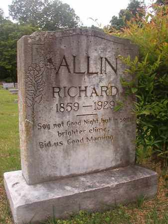 ALLIN, RICHARD - Phillips County, Arkansas | RICHARD ALLIN - Arkansas Gravestone Photos