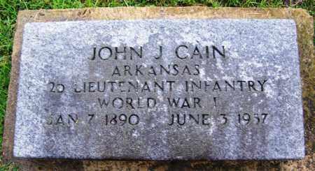 CAIN (VETERAN WWI), JOHN J - Phillips County, Arkansas | JOHN J CAIN (VETERAN WWI) - Arkansas Gravestone Photos