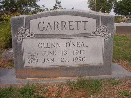 GARRETT, GLENN O'NEAL - Phillips County, Arkansas | GLENN O'NEAL GARRETT - Arkansas Gravestone Photos
