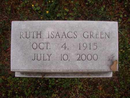 ISAACS GREEN, RUTH - Phillips County, Arkansas | RUTH ISAACS GREEN - Arkansas Gravestone Photos
