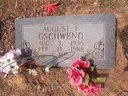 GSCHWEND, AUGUST F - Phillips County, Arkansas | AUGUST F GSCHWEND - Arkansas Gravestone Photos