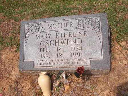 GSCHWEND, MARY ETHELINE - Phillips County, Arkansas | MARY ETHELINE GSCHWEND - Arkansas Gravestone Photos