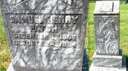 PATCH, SAMUEL HENRY - Phillips County, Arkansas | SAMUEL HENRY PATCH - Arkansas Gravestone Photos
