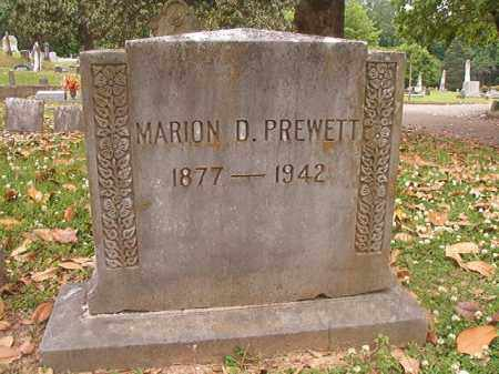 PREWETT, MARION D - Phillips County, Arkansas | MARION D PREWETT - Arkansas Gravestone Photos