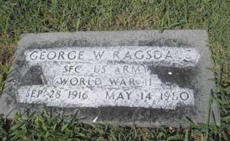 RAGSDALE, GEORGE W - Phillips County, Arkansas | GEORGE W RAGSDALE - Arkansas Gravestone Photos