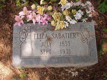SABATIER, ELIZA - Phillips County, Arkansas   ELIZA SABATIER - Arkansas Gravestone Photos