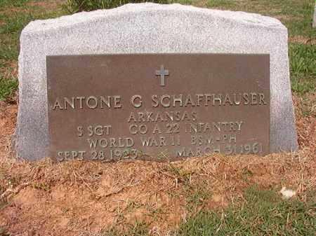 SCHAFFHAUSER (VETERAN WWII), ANTONE G - Phillips County, Arkansas | ANTONE G SCHAFFHAUSER (VETERAN WWII) - Arkansas Gravestone Photos