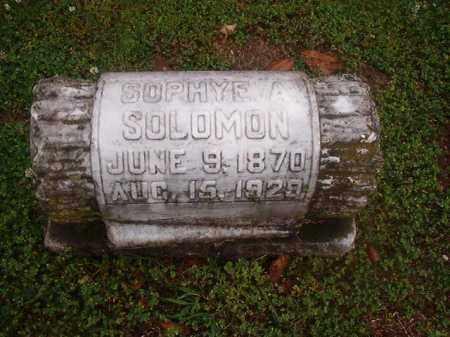 SOLOMON, SOPHYE A - Phillips County, Arkansas   SOPHYE A SOLOMON - Arkansas Gravestone Photos