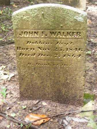 WALKER (VETERAN CSA), JOHN F - Phillips County, Arkansas | JOHN F WALKER (VETERAN CSA) - Arkansas Gravestone Photos