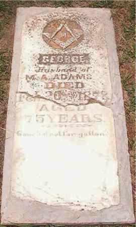ADAMS, GEORGE - Pike County, Arkansas | GEORGE ADAMS - Arkansas Gravestone Photos