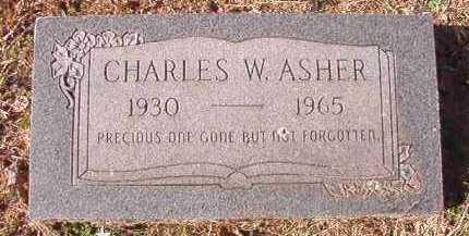 ASHER, CHARLES W - Pike County, Arkansas   CHARLES W ASHER - Arkansas Gravestone Photos