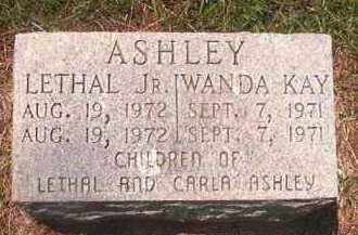 ASHLEY, LETHAL,  JR - Pike County, Arkansas | LETHAL,  JR ASHLEY - Arkansas Gravestone Photos